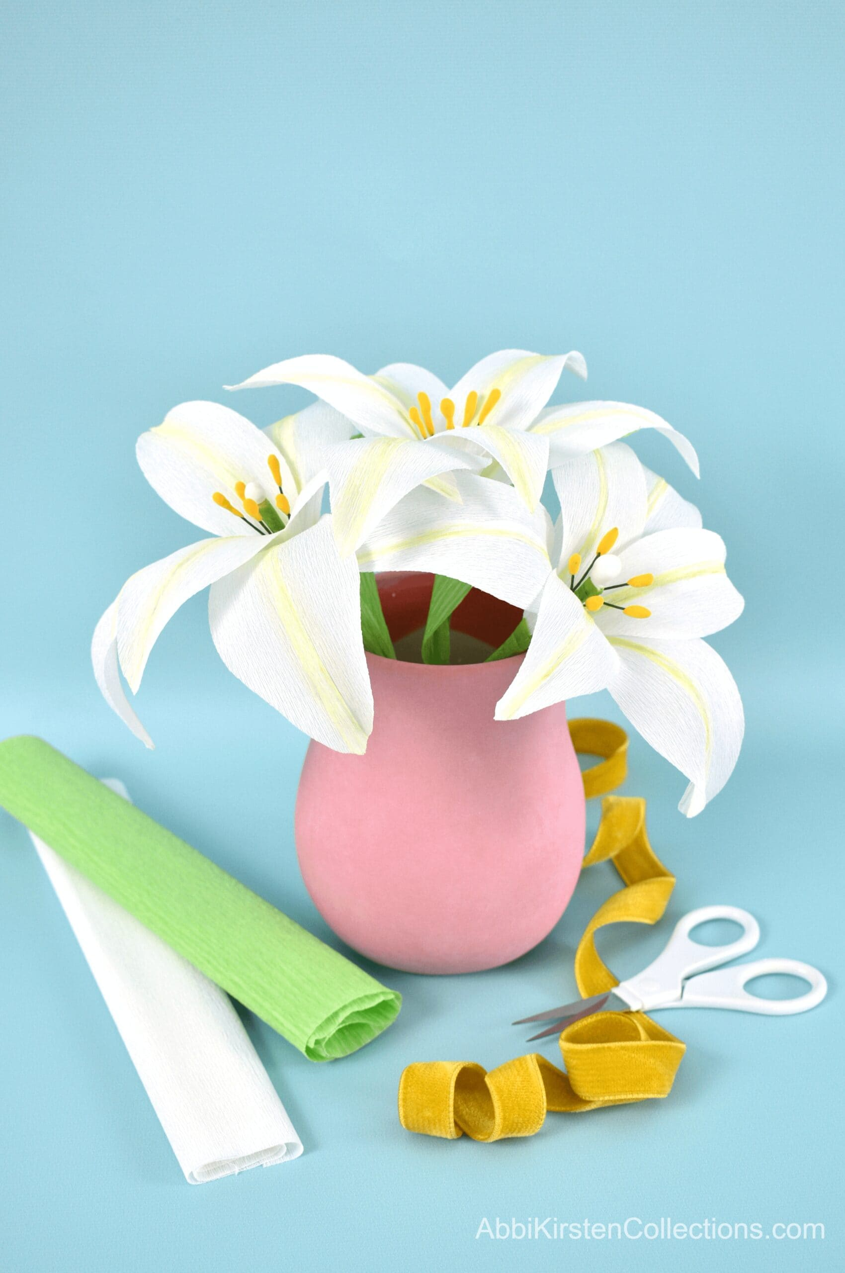 How to Make Crepe Paper Lily Flowers