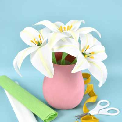 Lily flower paper craft ideas