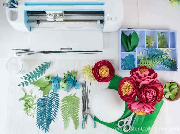 Making paper flowers with your cricut machine.