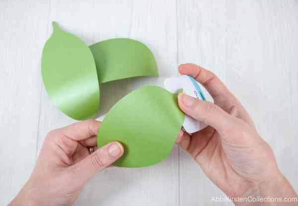 Curling paper leaves