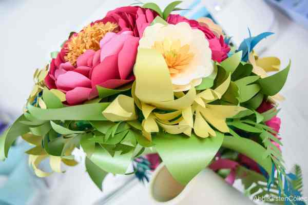 Paper buttercups and peonies.