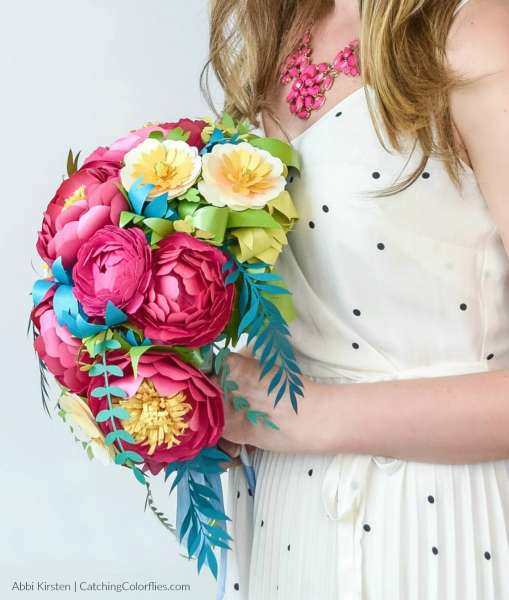 How to make a cascading paper flower bouquet.
