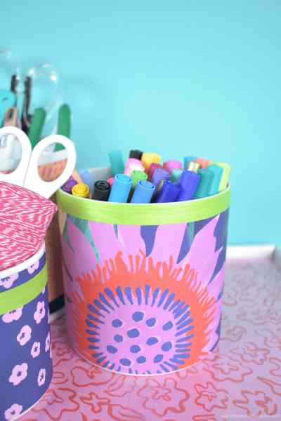 Decorate with wrapping paper.