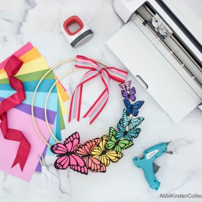 DIY Paper Butterfly Wreath for Spring