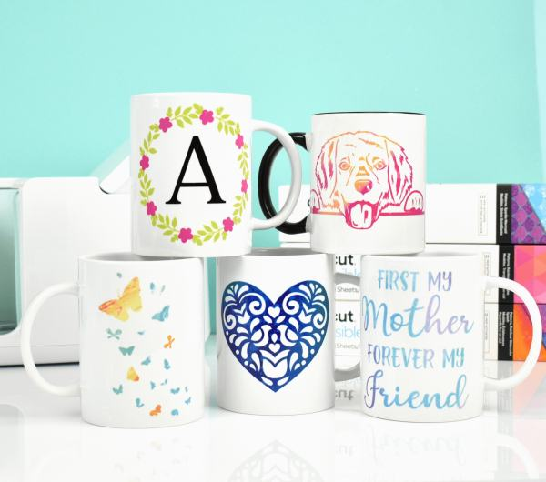 DIY mugs with Cricut Joy machine.