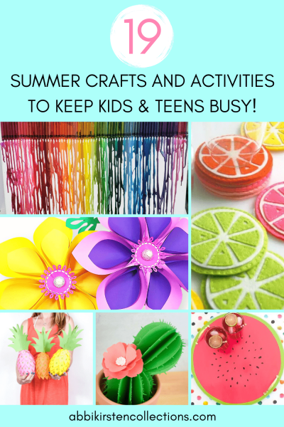 The best summer crafts and activities to keep kids busy during the school break. 19 easy craft ideas for kids to do over the summer.