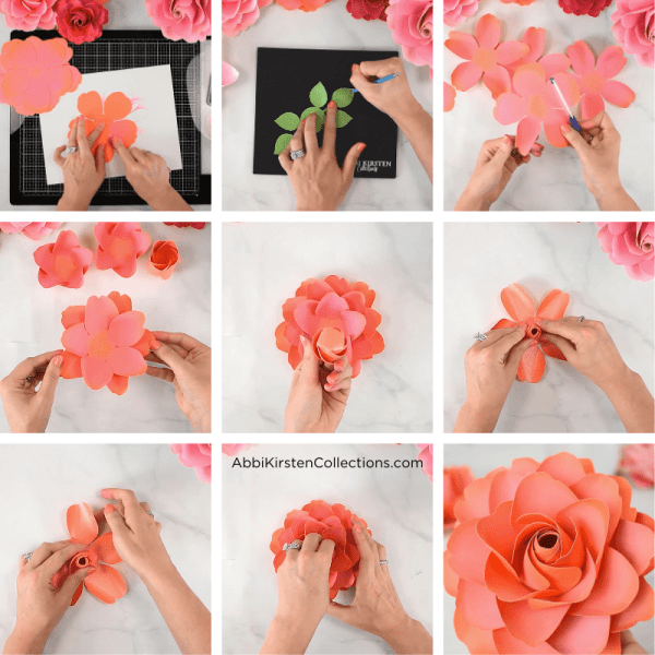How to make easy DIY paper roses for wedding bouquets, arrangements.