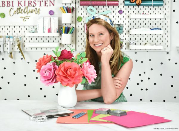 Abbi Kirsten Collections shares how to make easy paper flowers such as rose designs and more!