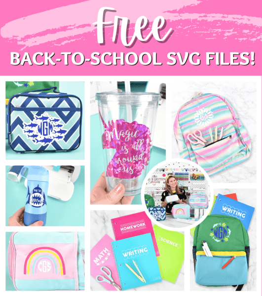 Free back-to-school svg cut files for Cricut.