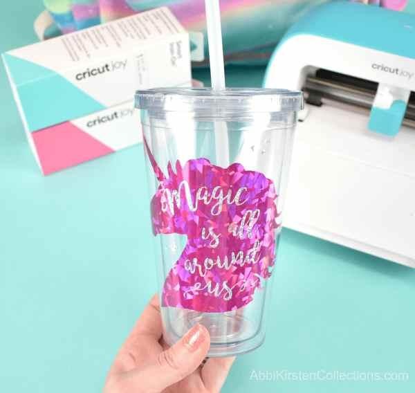 How to use smart holographic vinyl on plastic tumbler.