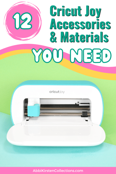 Learn what your Cricut Joy can do with this list of the most essential Cricut Joy accessories and materials to use with your machine.