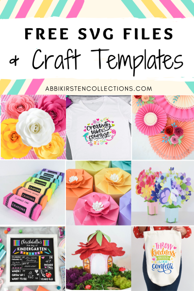 Download free SVG cut files for Cricut and other paper craft templates on Abbi Kirsten Collections.
