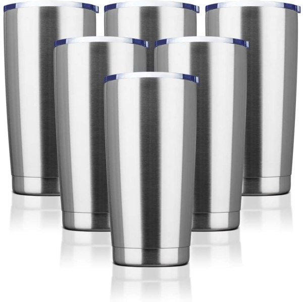 Stainless steel tumblers for crafts
