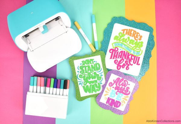 Use your Cricut Joy, Maker or Explore with hatch fills to make solid filled text in Cricut Design Space.