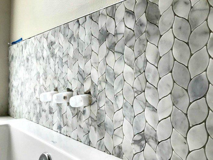 marble mosaic tile bathroom