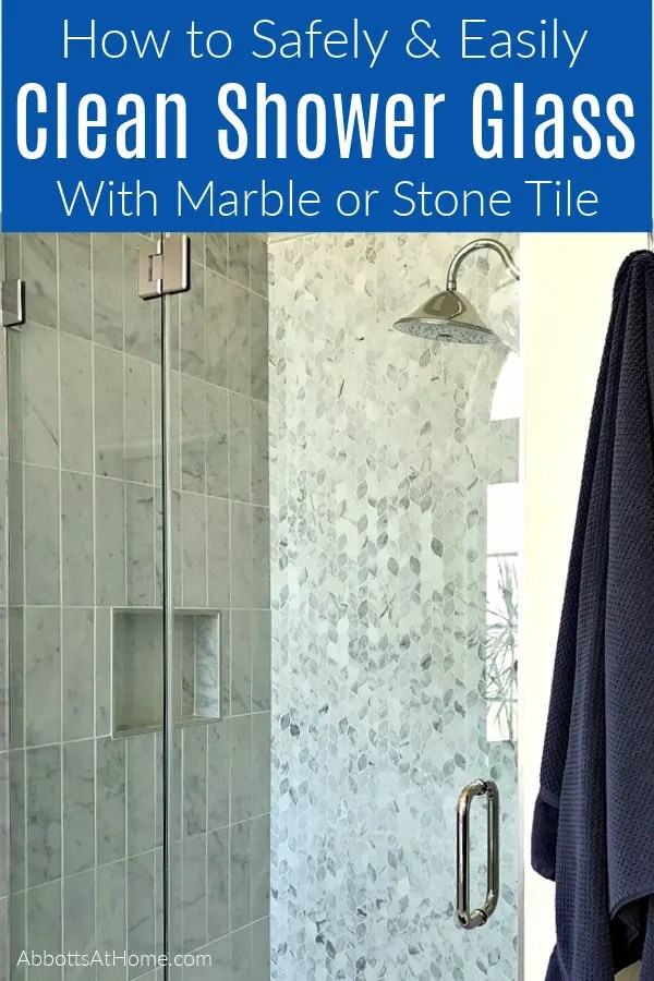 shower glass door with marble tile