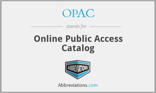 OPAC - Online Public Access Catalog