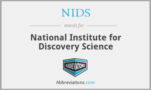 Resultado de imagen para National Institute for Discovery Science