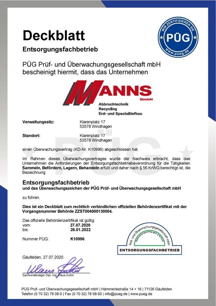 Efb-Zertifikat 2020