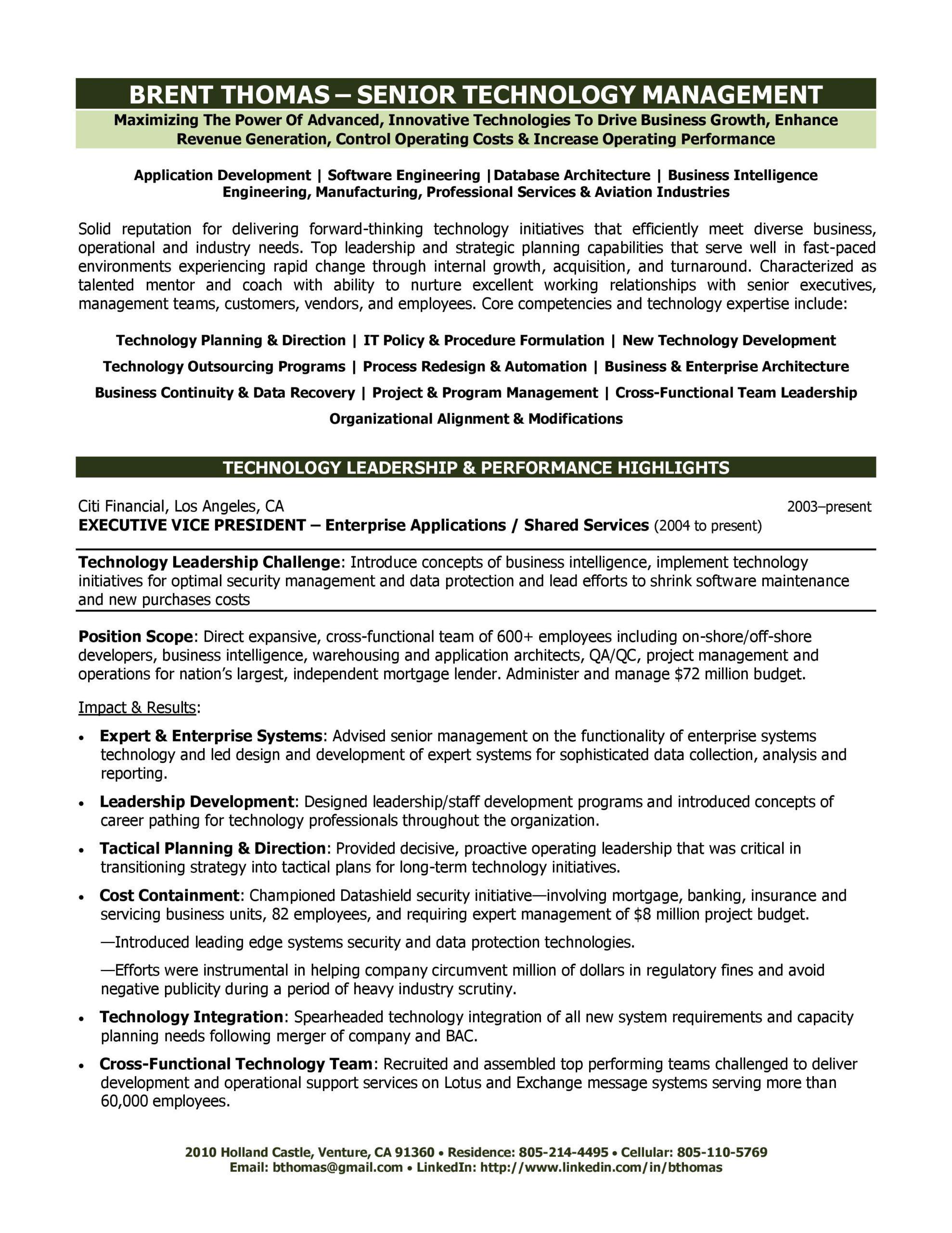 technology-executive-resume   Abby Locke