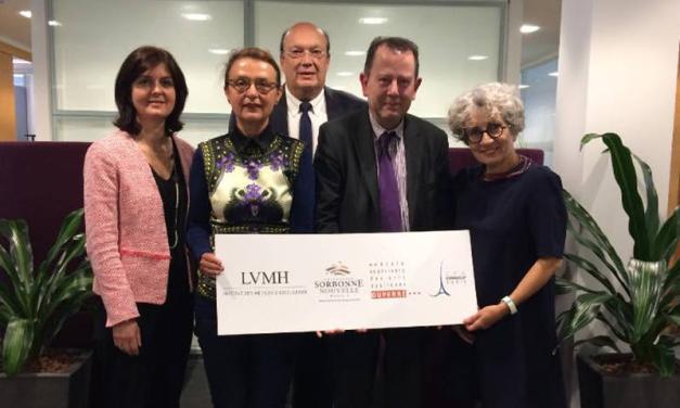 La Sorbonne, l'ecole Duperre et l'IME (LVMH) s'associent pour la creation d'un nouveau cursus