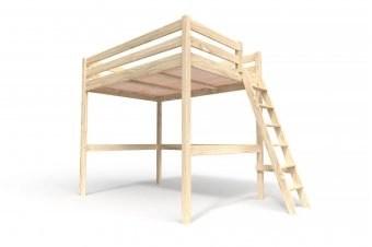 lit mezzanine sylvia avec echelle bois
