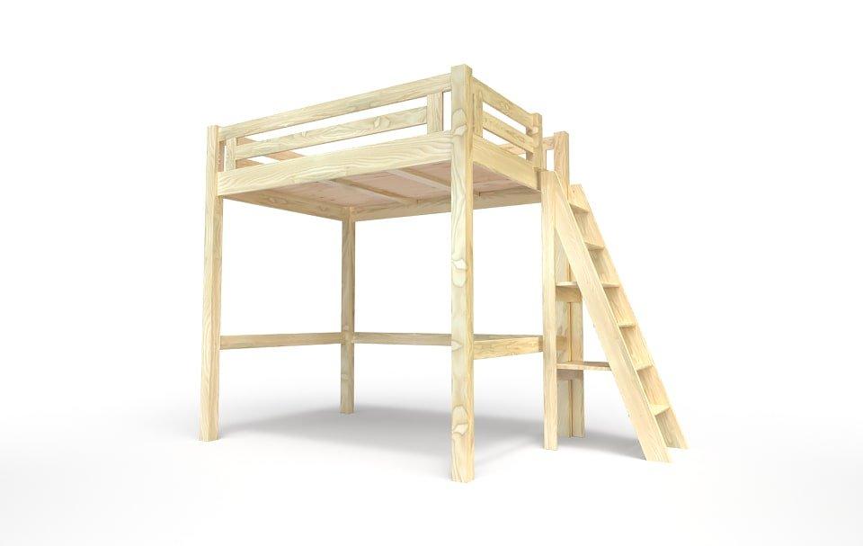 lit mezzanine alpage bois echelle