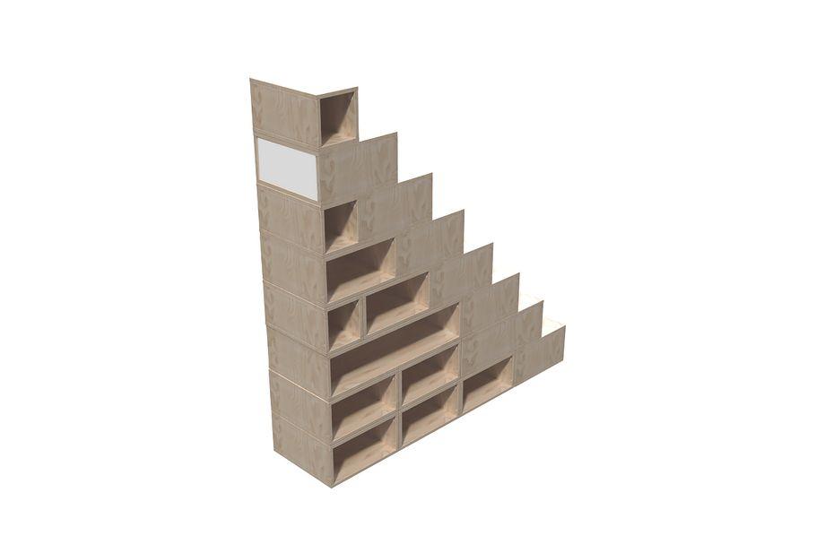escalier cube de rangement hauteur 200