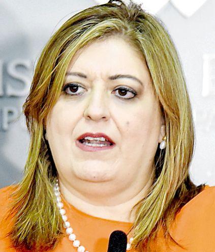 Sandra Quiñónez Astigarraga, fiscala general del Estado.