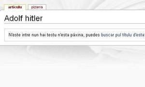 Una wikipedia en leonés que ensalzaba el Holocausto