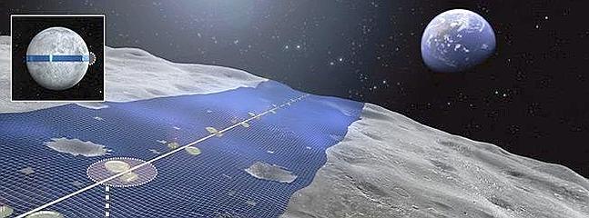 Japoneses quieren convertir la Luna en una inmensa planta de  energía solar