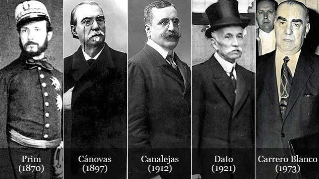 presidentes%20asesinados  644x362 - España, un largo historial de presidentes asesinados