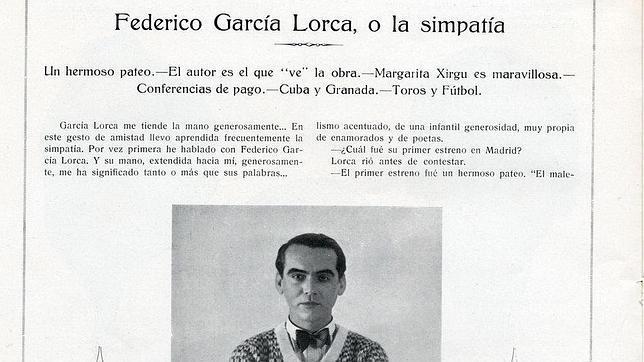La entrevista perdida de Federico García Lorca