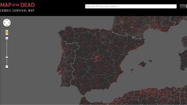 Crean un plano con Google Maps para usar en caso de apocalipsis zombi
