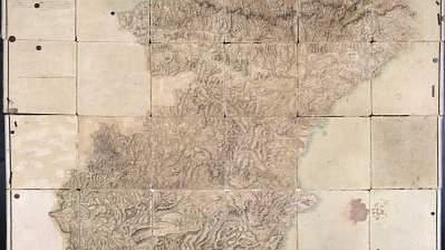 El mapa de carreteras más antiguo de España