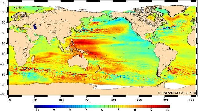 Los satélites ya detectan el aumento del nivel del mar