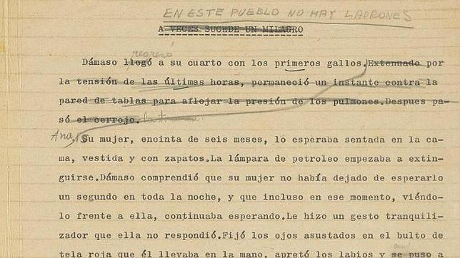 El original de un cuento de García Márquez no encuentra comprador