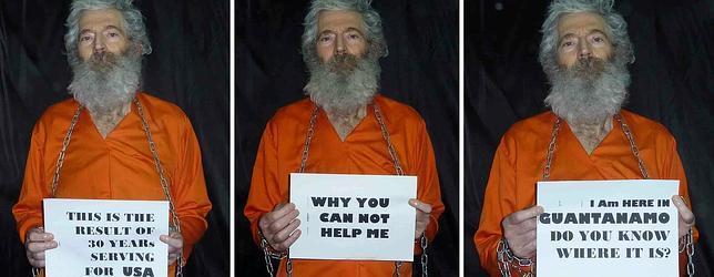 Fotos del exagente del FBI desaparecido en Irán: «Estoy en Guantánamo, ¿sabéis dónde es?»