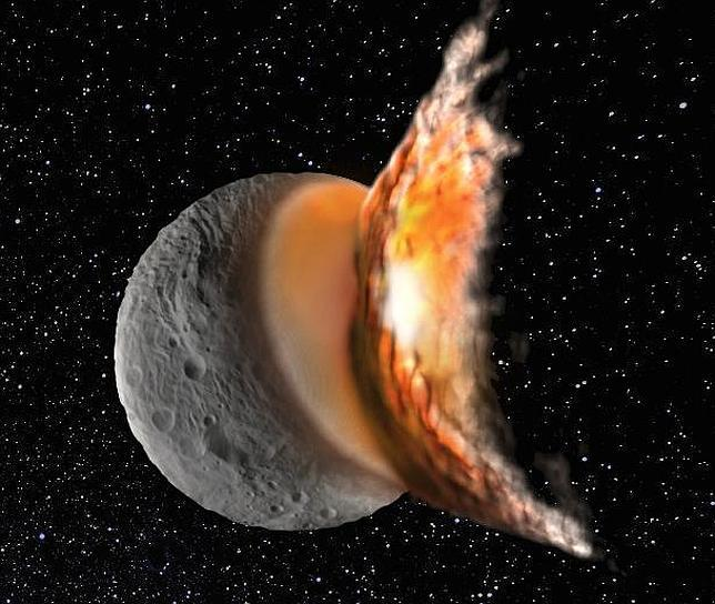 Así sobrevivió Vesta a dos impactos gigantes