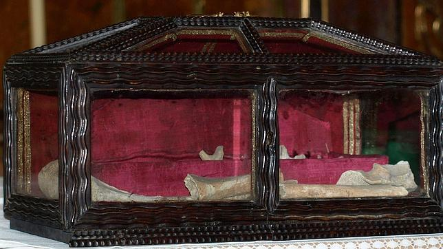Reliquias de San Valentín conservadas en la Colegiata del Santo Sepulcro de Calatayud