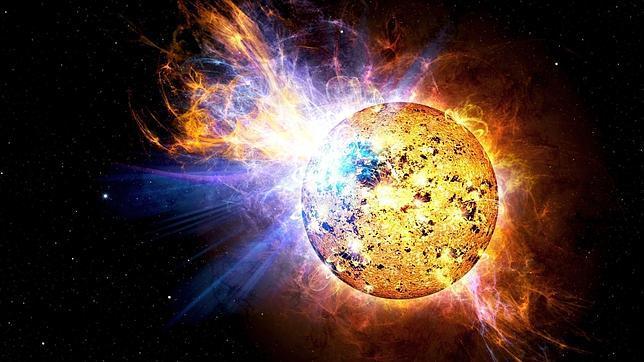 Una estrella fulgurante aumenta 15 veces su brillo en menos de 3 minutos