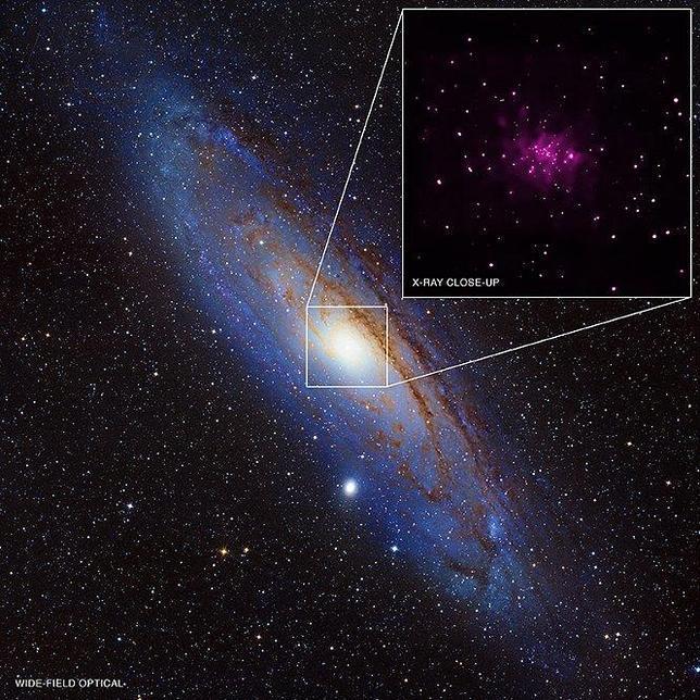 Descubren un tesoro de agujeros negros en Andrómeda