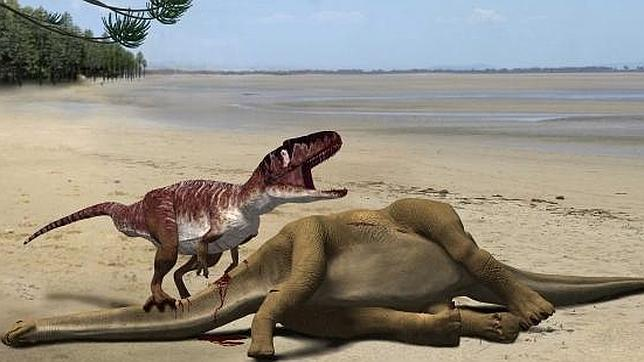 Hallan en Teruel una huella de dinosaurio única en el mundo