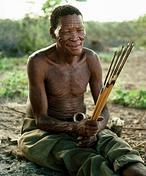 Un anciano bosquimano / P.W.