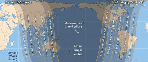 El selenelion, el extraño eclipse lunar de este miércoles