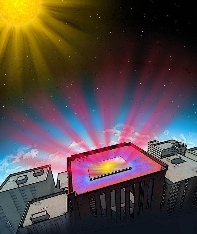 Un nuevo material elimina el calor de los edificios y lo envía al espacio