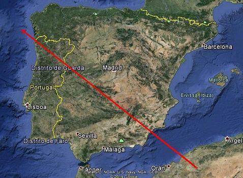Una bola de fuego cruzó España de punta a punta en Nochebuena