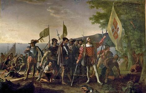 Llegada de Cristóbal Colón a las Indias Occidentales», por John Vanderlyn