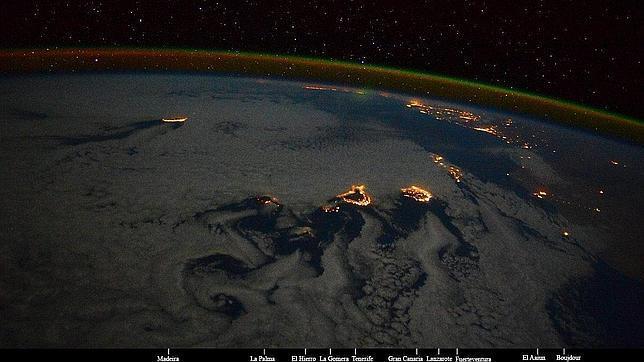 Así se ve Canarias desde la Estación Espacial Internacional