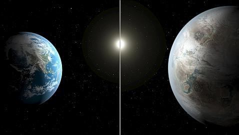 Recreación del Kepler-452 b